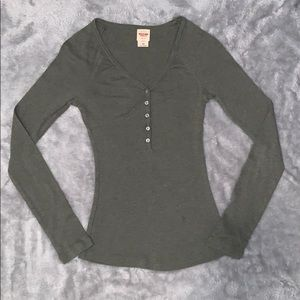 Mossimo Olive Green Henley